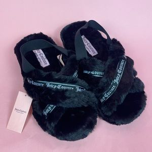 Juicy Couture Fluffy Slippers NWT!
